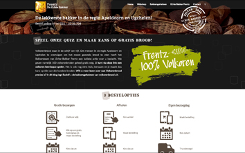 Frentzo - portfolio - portfolio item - website - echte bakker frentz