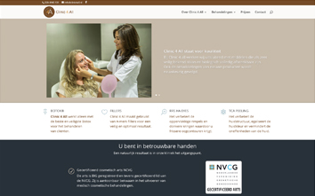 Frentzo - portfolio - portfolio item - website - clinic 4 all